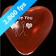 Red, Heartballon Filled With Gold Glitter Is Bursting 4 - VideoHive Item for Sale