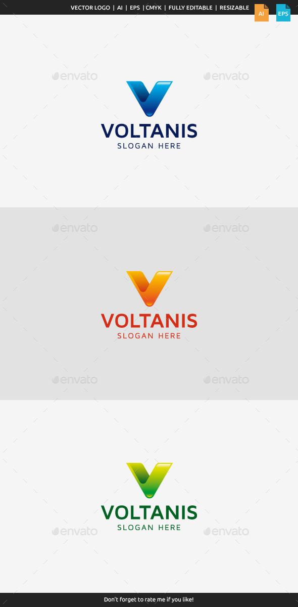 GraphicRiver Voltanis V Logo 10246084