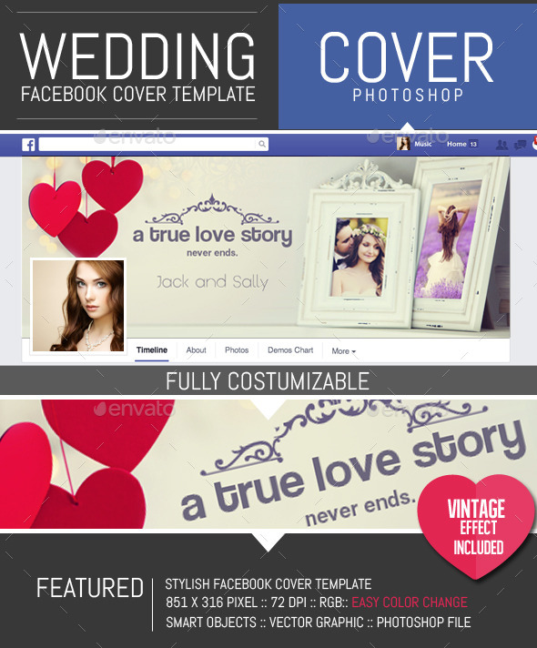 GraphicRiver Wedding Frame Facebook Timeline Cover Template 10246159