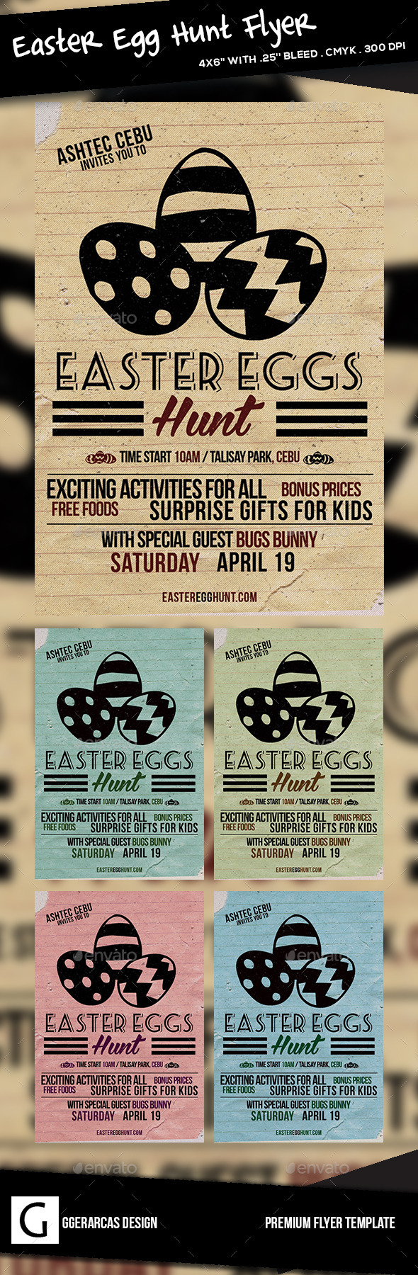 GraphicRiver Easter Flyer 10246247