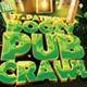 St. Patty's Boozy Pub Crawl Flyer Template