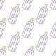 Bottle of Milk Seamless Pattern - GraphicRiver Item for Sale