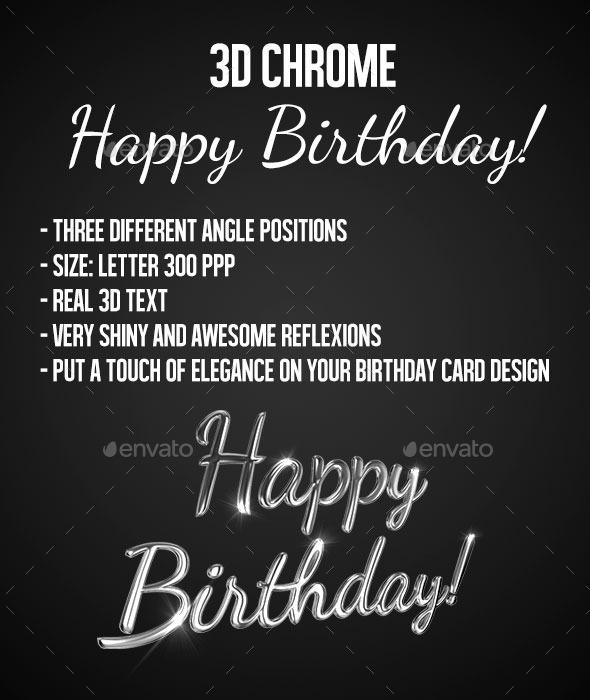 GraphicRiver 3D Chrome Text Happy Birthday 10246411