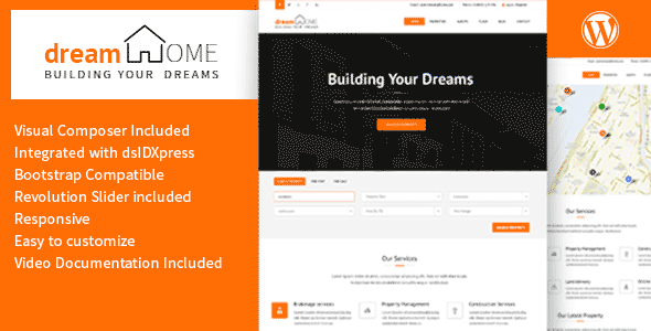 ThemeForest Dream Home Real Estate WordPress Theme 10246412