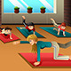 Kids in a Yoga Class - GraphicRiver Item for Sale