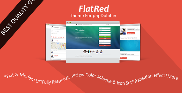 Flat Red Theme For phpDolphin