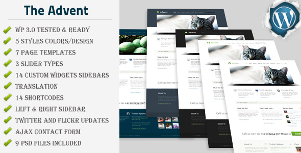 The Advent - Clean and Modern Business WP Theme