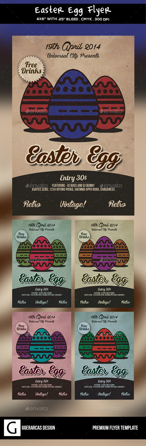 GraphicRiver Easter Egg Flyer 10246499