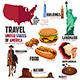 Infographic Elements for Traveling to USA - GraphicRiver Item for Sale