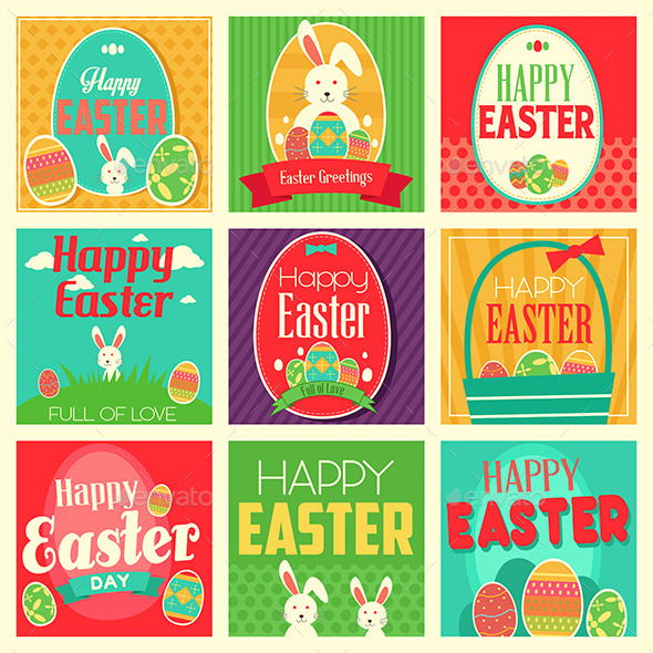 GraphicRiver Easter Cards 10246507