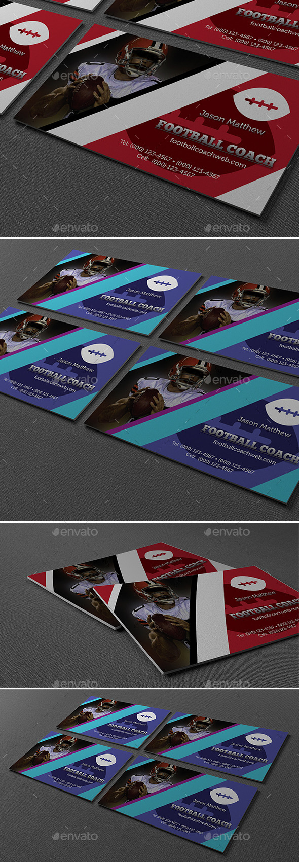 GraphicRiver Football Coach Business Card 10246508