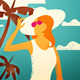 Holiday Beach Illustration - GraphicRiver Item for Sale