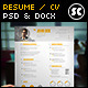 Modern Resume CV - GraphicRiver Item for Sale
