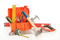 Toolbox with various working tools isolated over white - PhotoDune Item for Sale