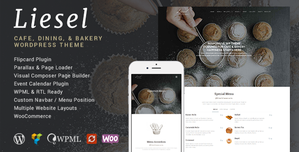 ThemeForest Liesel Cafe Dining and Bakery Wordpress Theme 10176485