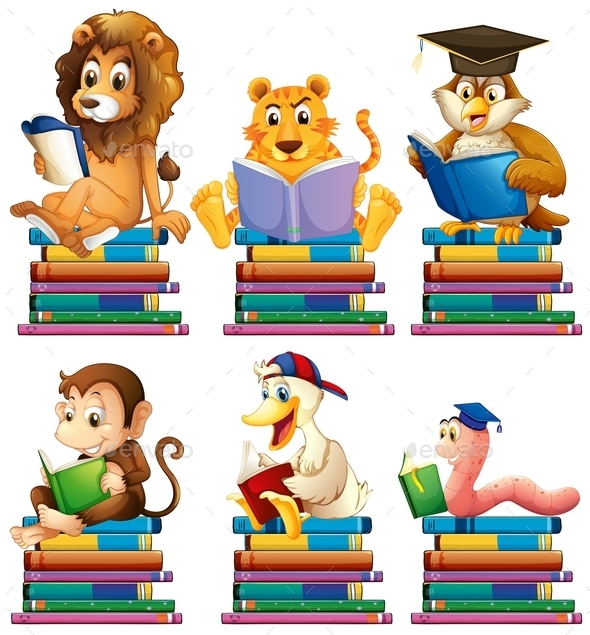 GraphicRiver Animals and Books 10246642
