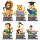 Animals and Books - GraphicRiver Item for Sale