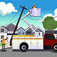 Worker Fixing Broken Power Lines - GraphicRiver Item for Sale