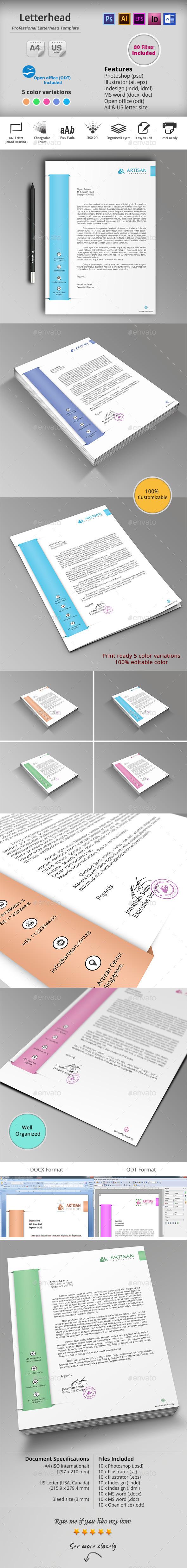 GraphicRiver Letterhead 10246688