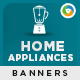 Home Appliances Banners - GraphicRiver Item for Sale