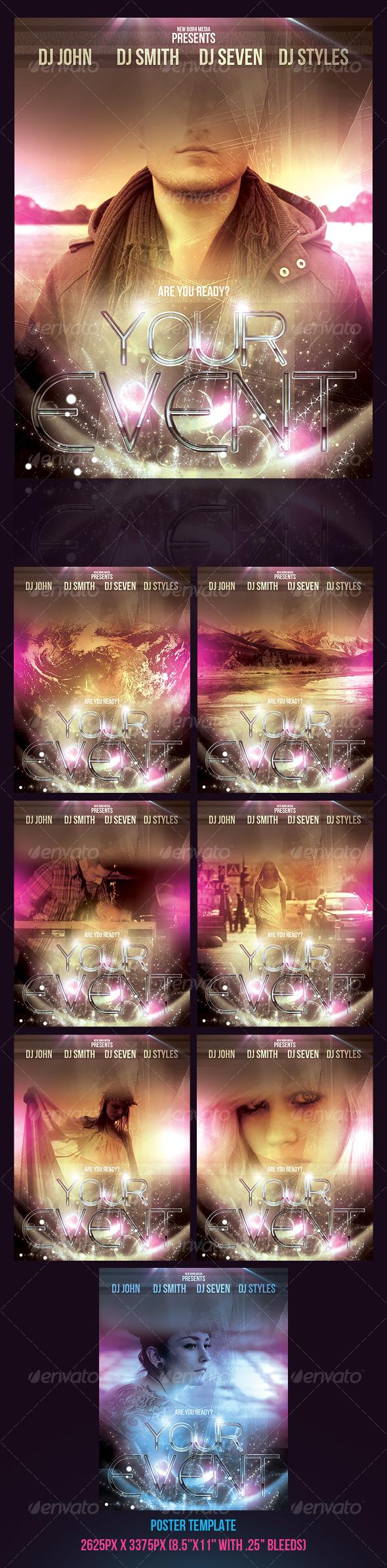 GraphicRiver Star Shine Poster Template 129301