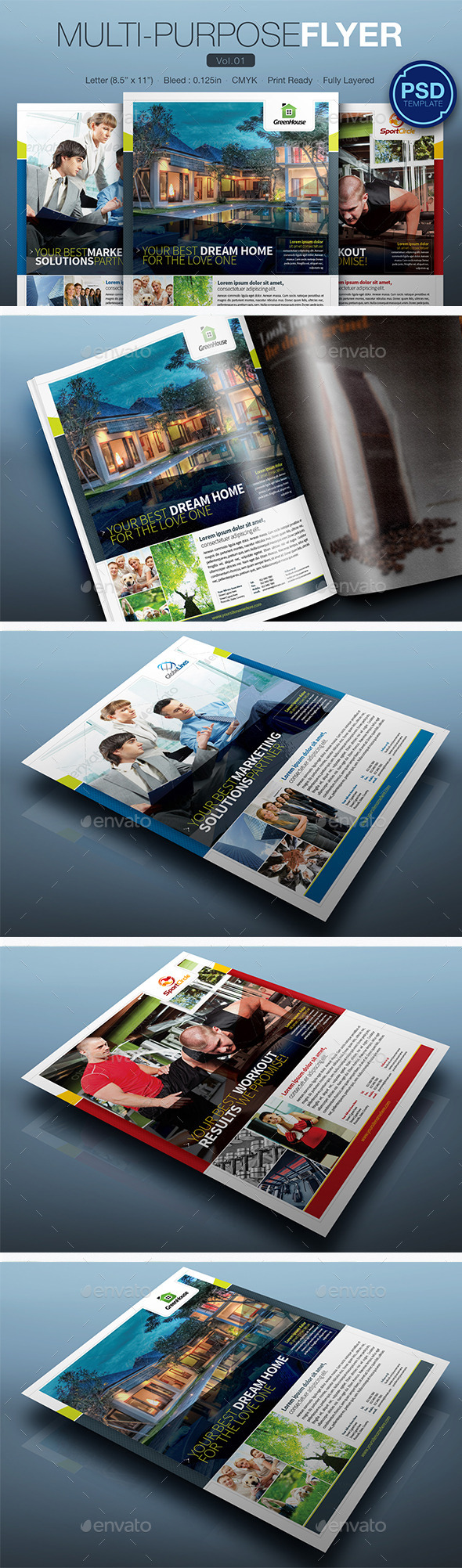 GraphicRiver Multipurpose Flyer Vol.01 10248082