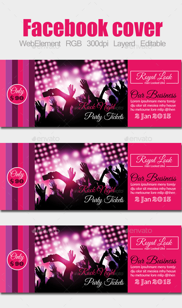 GraphicRiver Party Concert Facebook Cover 10248139