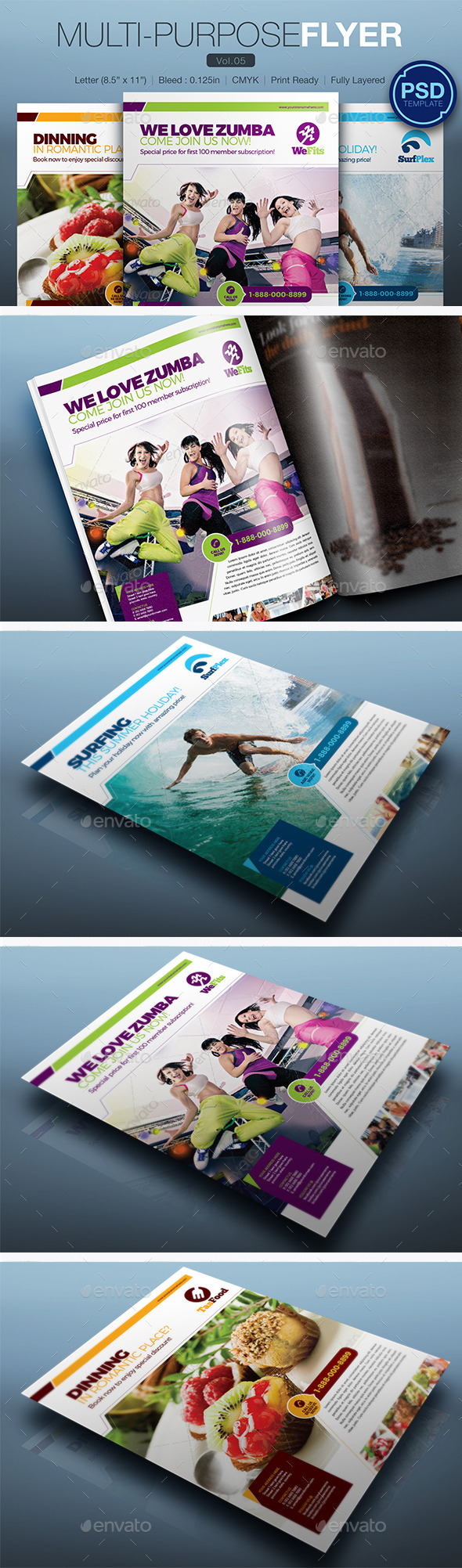 GraphicRiver Multipurpose Flyer Vol.05 10248196