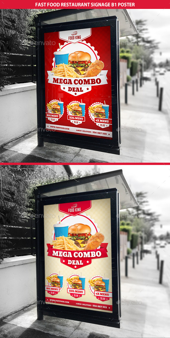 Restaurant Fast Food Signage B1 Poster