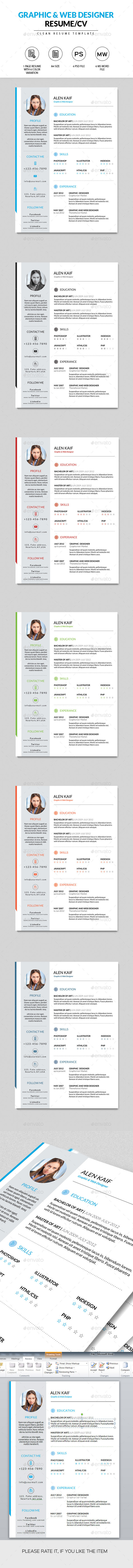 GraphicRiver Clean Resume CV 10248518