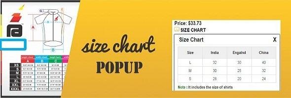 CodeCanyon Size Chart 10248583