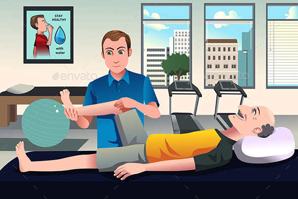 GraphicRiver Physical Therapist Working on a Patient 10248643