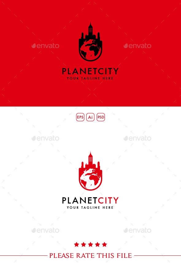 GraphicRiver Planet City Logo 10248723