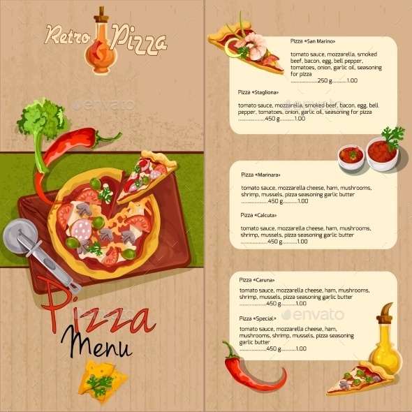 GraphicRiver Pizza Menu 10249419