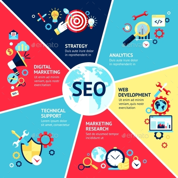 GraphicRiver Seo Infographic Set 10249427