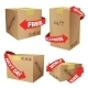 Boxes With Delivery Symbols - GraphicRiver Item for Sale