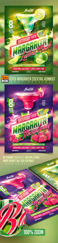 GraphicRiver Flyer Margarita Cocktail Konnekt 10249434
