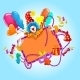 Celebration Colored Background - GraphicRiver Item for Sale
