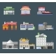 Government Flat Buildings Set - GraphicRiver Item for Sale