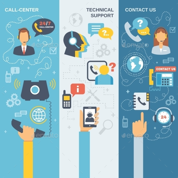 GraphicRiver Support Call Center Banner 10249454