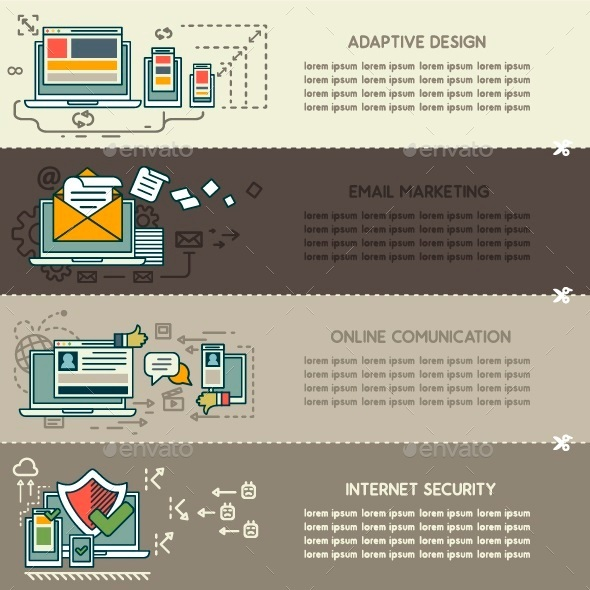 GraphicRiver Set Three of Internet Technology Banners 10249465
