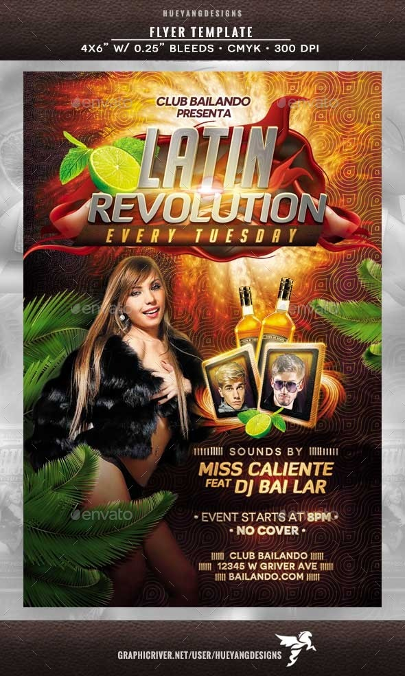 GraphicRiver Latin Revolution Flyer 10250229