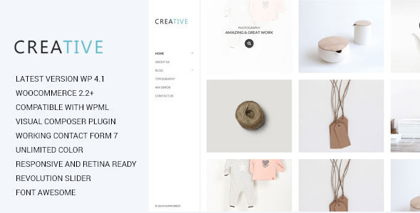 ThemeForest Creative Photography WordPress Theme 10160405