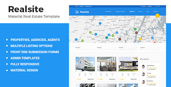 Realsite Material Real Estate Template