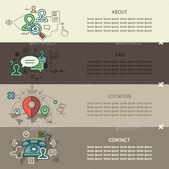 GraphicRiver Set Six of Internet Technology Banners 10250350