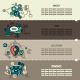 Set Six of Internet Technology Banners - GraphicRiver Item for Sale