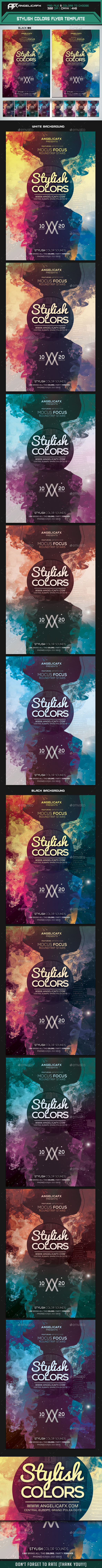 GraphicRiver Stylish Colors Flyer Template 10250395