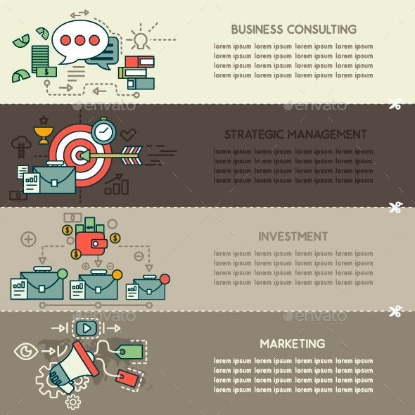 GraphicRiver Set Seven of Business Banners 10250484