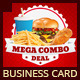Restaurant Fast Food Business Cards - GraphicRiver Item for Sale