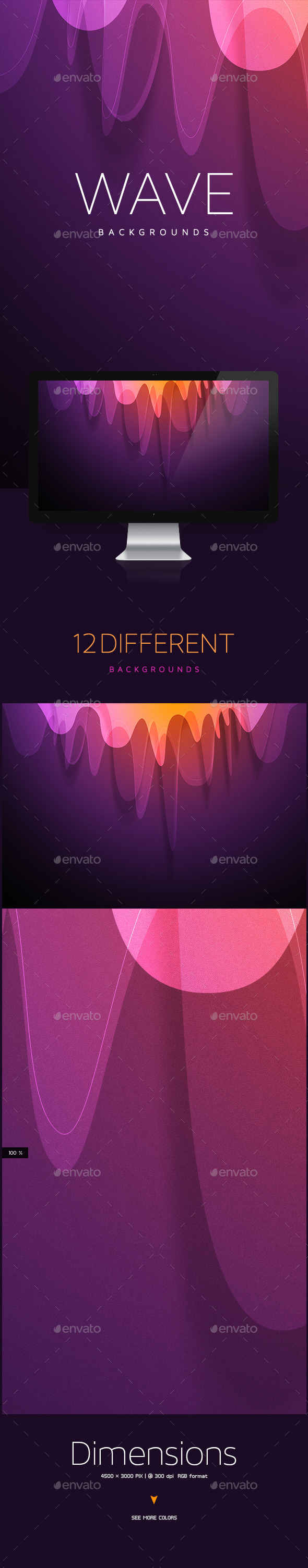 GraphicRiver Wave Abstract Backgrounds 10250574